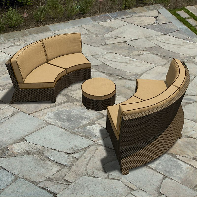 Terrazza Patio Horizon 3-piece Patio Sectional Sofa Set