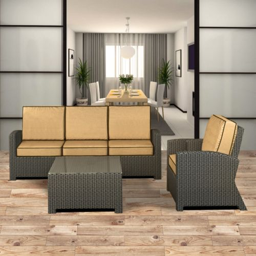 Terrazza Patio Horizon 3-piece Patio Sofa Set