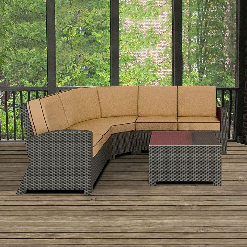 Terrazza Patio Horizon 4-piece Patio Sectional Sofa Set