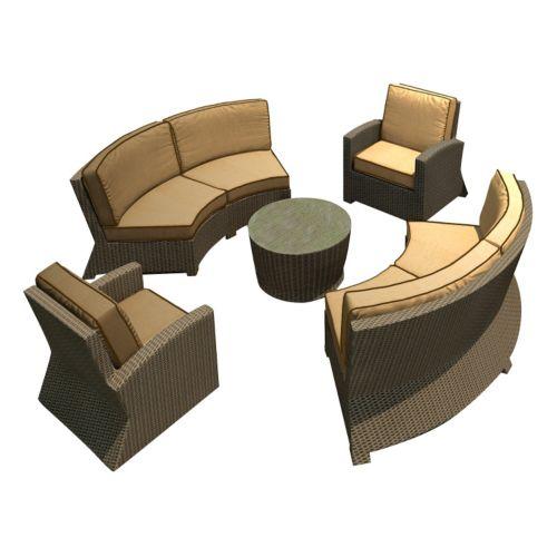 Terrazza Patio Horizon 5-piece Patio Sectional Sofa Set