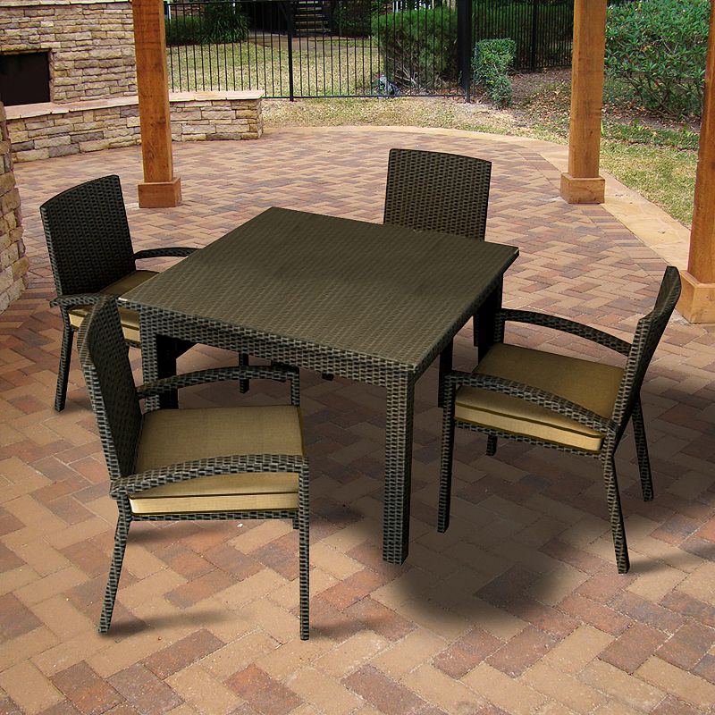 Terrazza Patio Horizon 5-piece Square Patio Dining Set