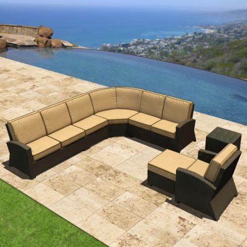 Terrazza Patio Horizon 7-piece Patio Sectional Sofa Set