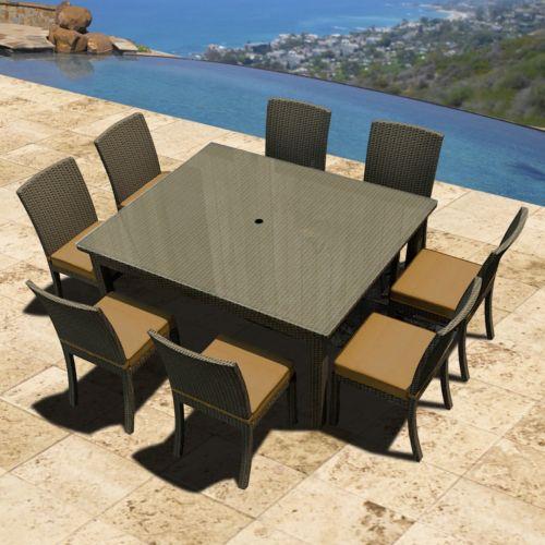 Terrazza Patio Horizon 9-piece Square Patio Dining Set