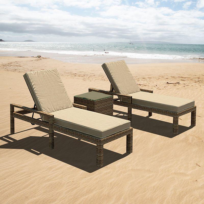 Terrazza Patio Brookside 3-piece Chaise Lounge Set