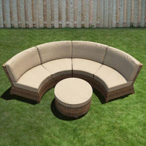 Terrazza Patio Brookside 3-piece Patio Sectional Sofa Set