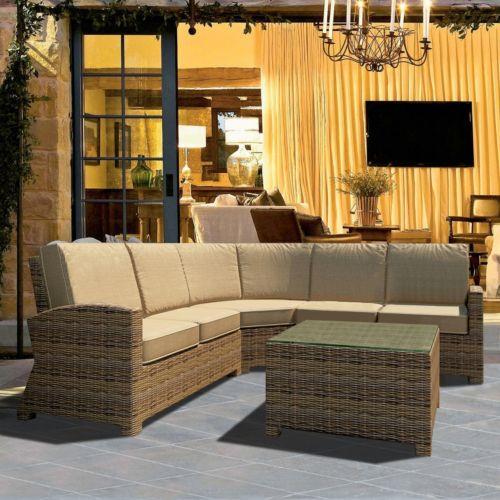 Terrazza Patio Brookside 4-piece Patio Sectional Sofa Set