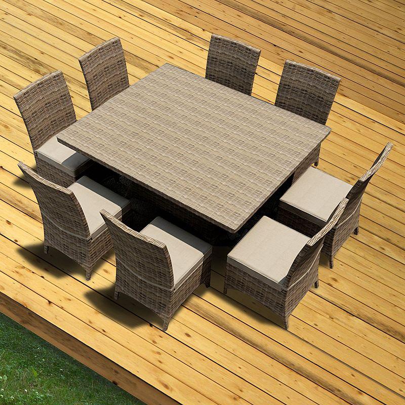 Terrazza Patio Brookside 9-piece Square Patio Dining Set