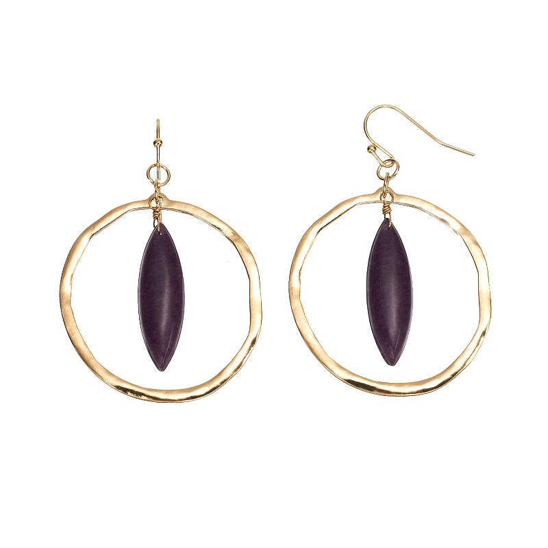Mudd® Marquise Hoop Drop Earrings