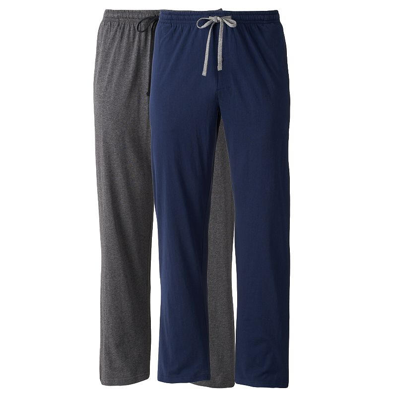 Men's Hanes Classics 2-pack Solid Knit Lounge Pants