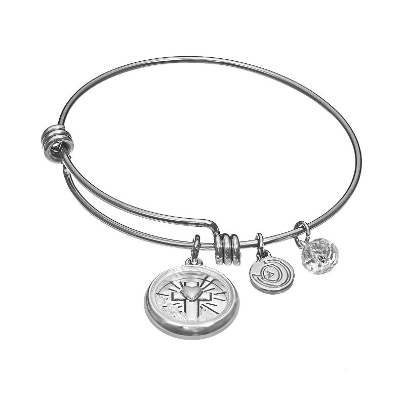 love this life Crystal Stainless Steel & Silver-Plated
