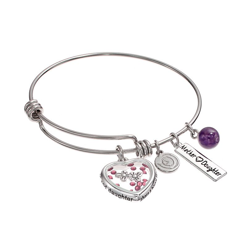 love this life Amethyst Stainless Steel & Silver-Plated