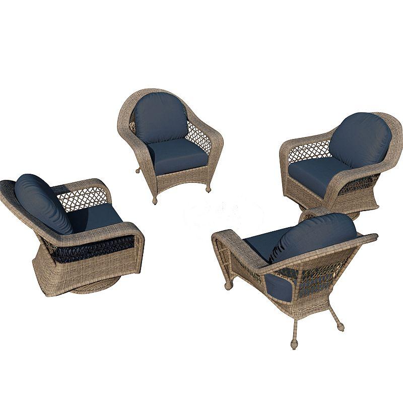Terrazza Patio Madison 4-piece Patio Chair Set