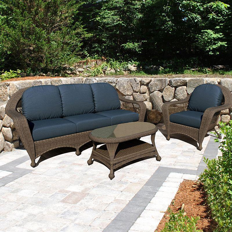 Terrazza Patio Madison 3-piece Patio Sofa Set