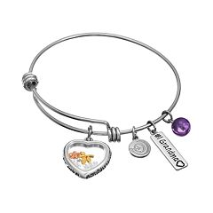 love this life Amethyst & Crystal Stainless Steel & Silver-Plated \