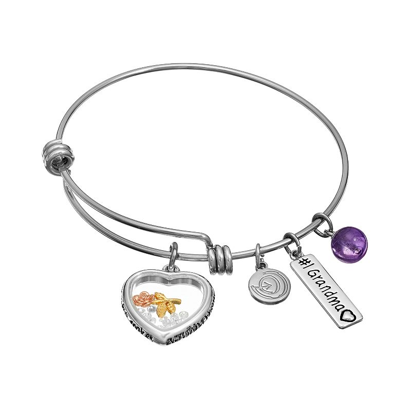 love this life Amethyst & Crystal Stainless Steel & Silver-Plated