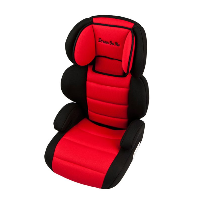Dream On Me Deluxe Turbo Booster Car Seat, Red