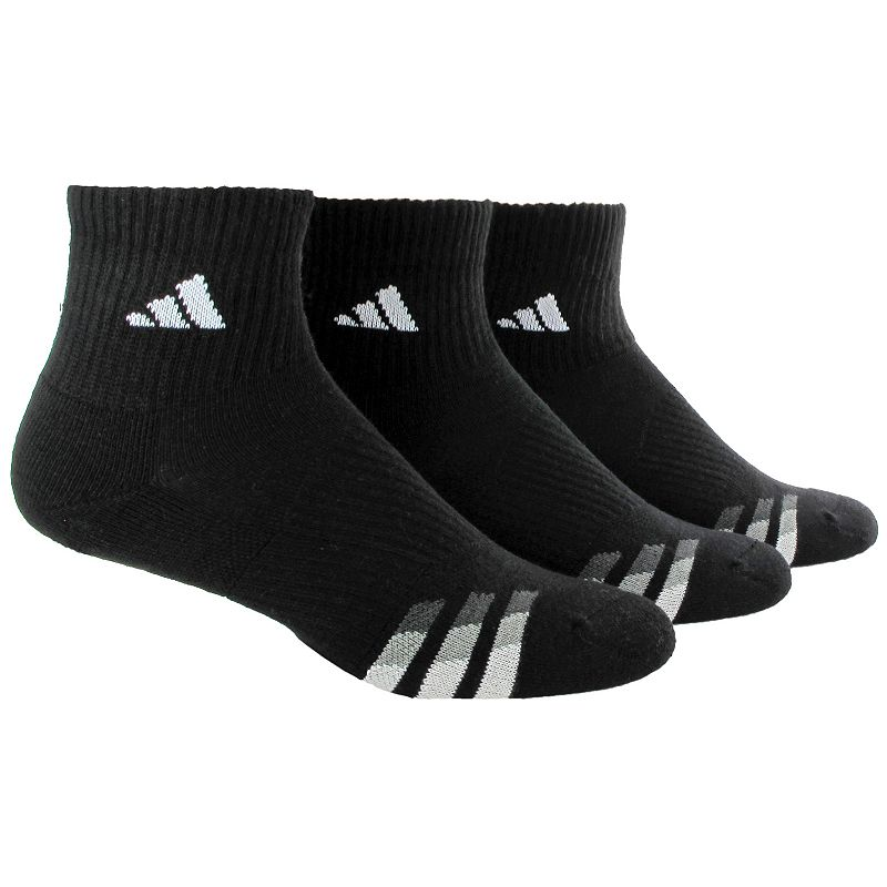 Men's adidas 3-Pack Performance Cushioned Quarter-Crew Socks