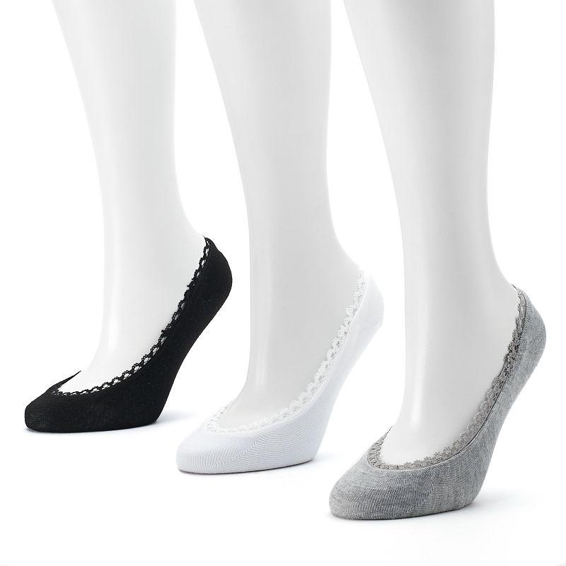 Keds 3-pk. Lace-Trim Liner Socks - Women