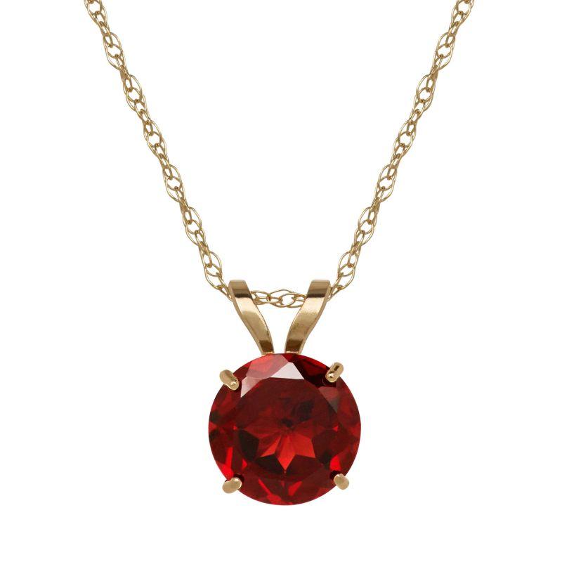 garnet gold necklace kohl s