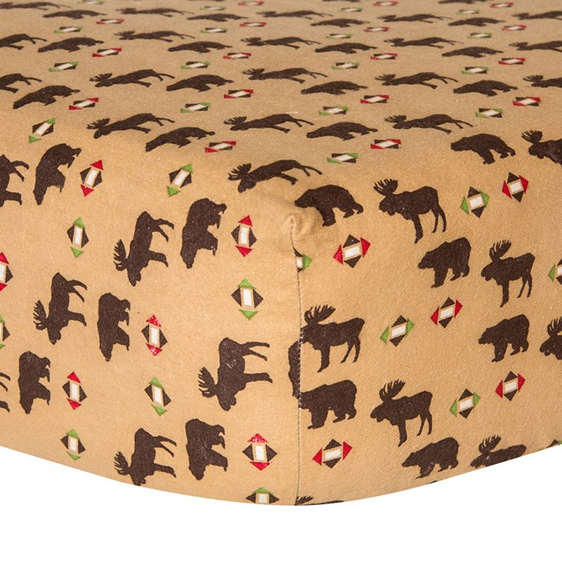 Trend Lab Northwoods Animal Print Crib Sheet