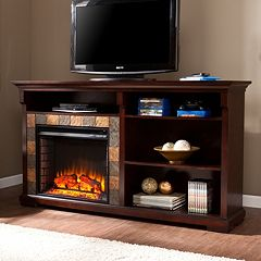 Dayton Electric Fireplace & 3-Shelf Bookcase by
