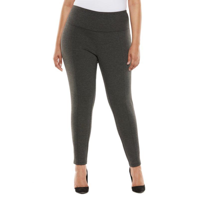 Plus Size Apt. 9 Tummy Control Leggings, Women's, Size: 0X SHORT, Black