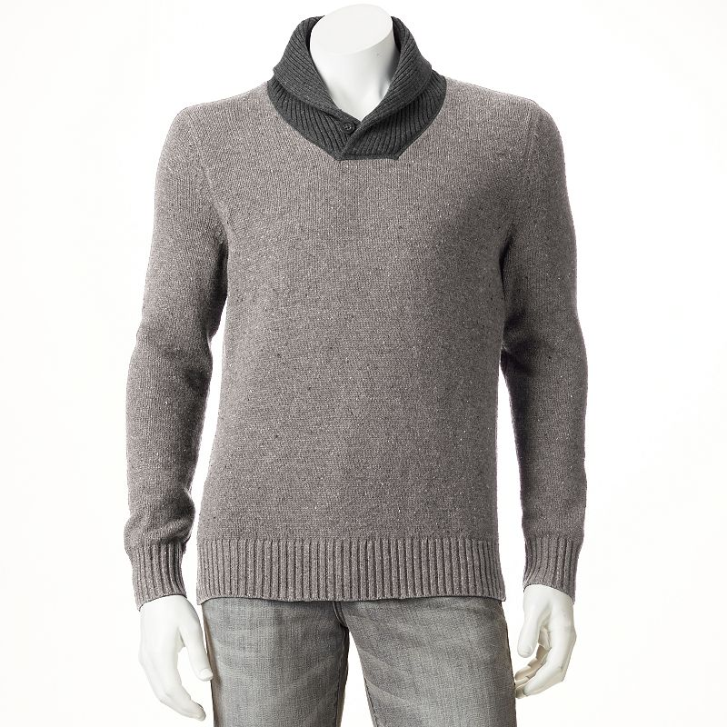 Men's SONOMA Goods for Life™ Classic-Fit Wool-Blend Shawl-Collar Sweater
