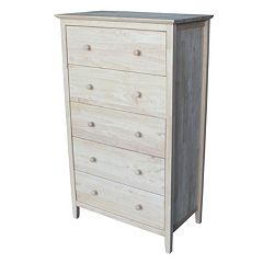 International Concepts 5-Drawer Dresser by