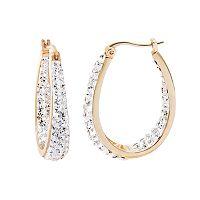 Crystal Radiance 18k Gold-Plated Inside-Out U-Hoop Earrings