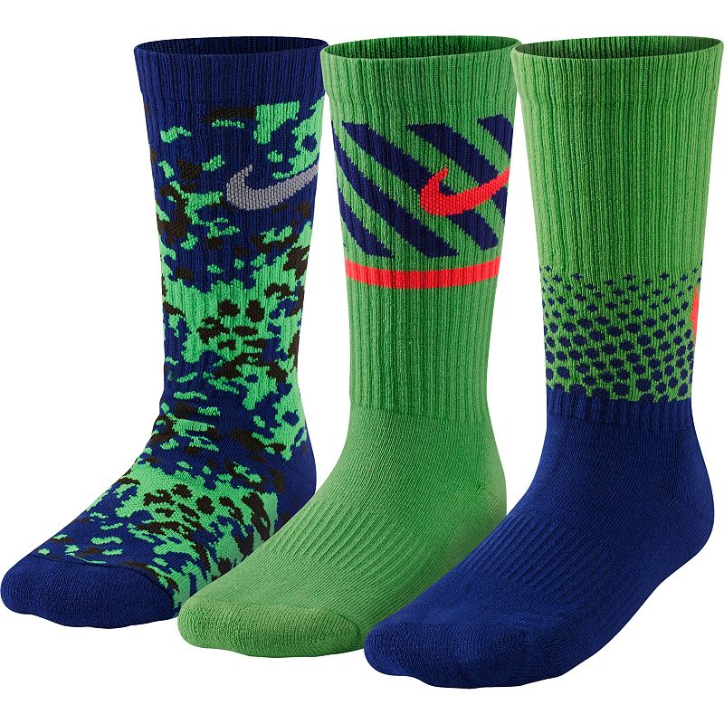 Boys Nike 3-Pack Graphic Camouflage Crew Socks