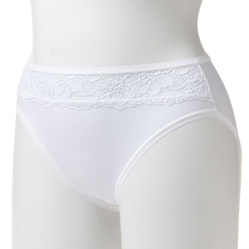 Bali One Smooth U Comfort Indulgence Satin High-Cut Panty 2848 - Women's
