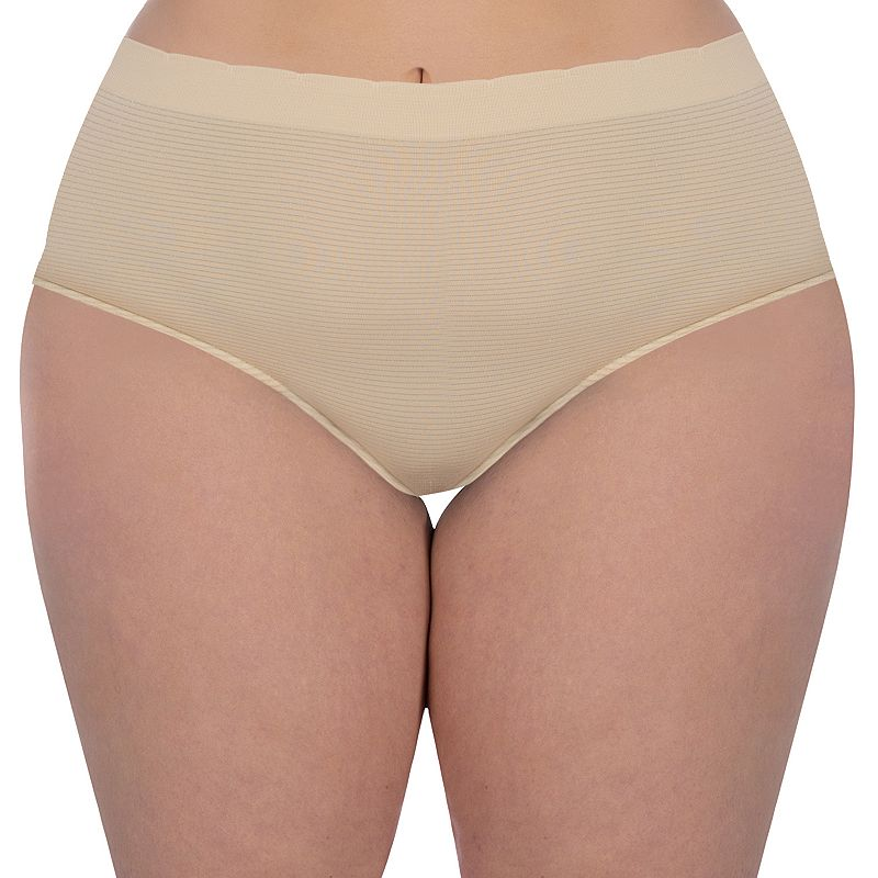 Plus Size Superfit Curves Seamless Lurex Hipster 75860