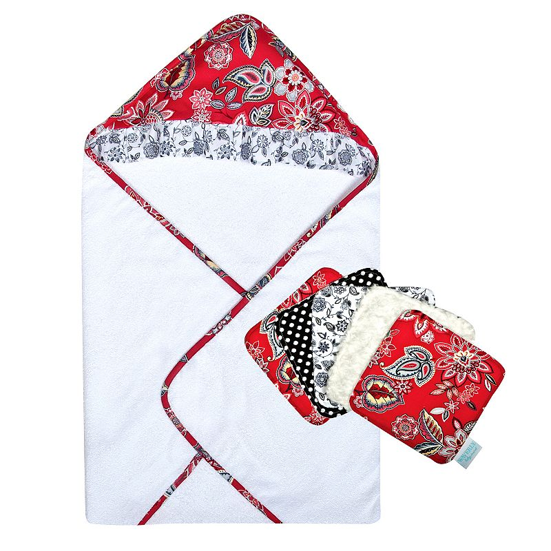 Waverly Baby Charismatic 6-pc. Hooded Towel & Washcloth Set by Trend Lab