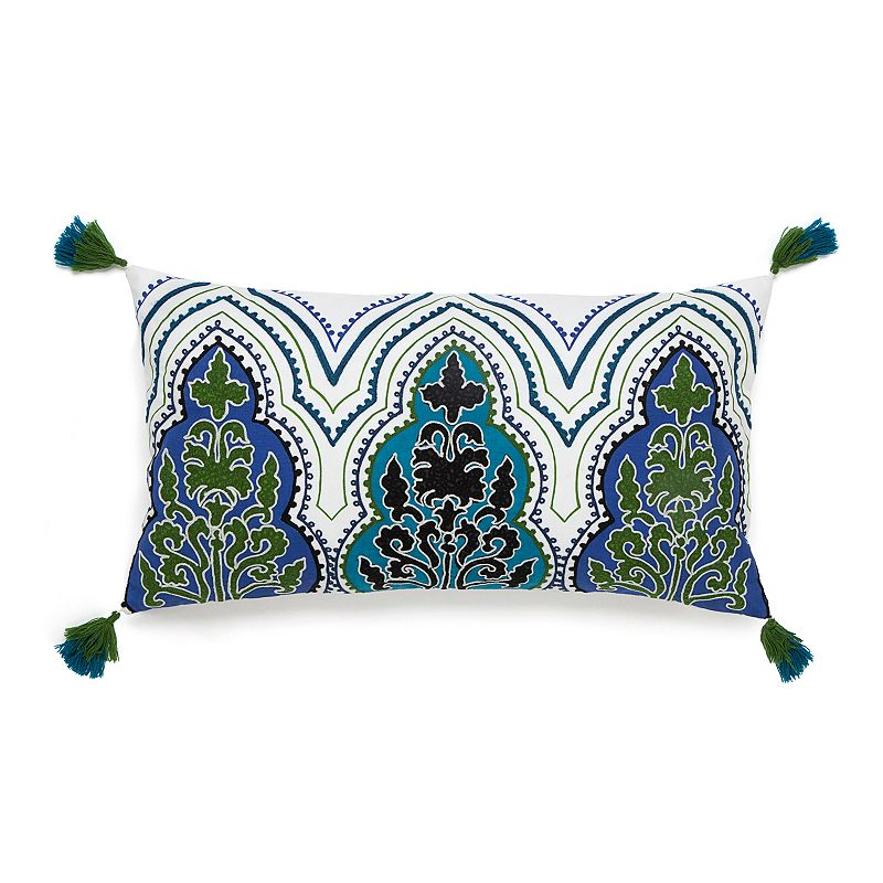 Collier Campbell Pondicherry Embroidered Breakfast Throw Pillow