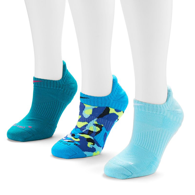 Nike Dri Fit Cushioned 3-pk. Women's No-Show Socks