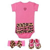 Baby Bella Maya 3-pc. Lollipop Leopard Clothing Gift Set