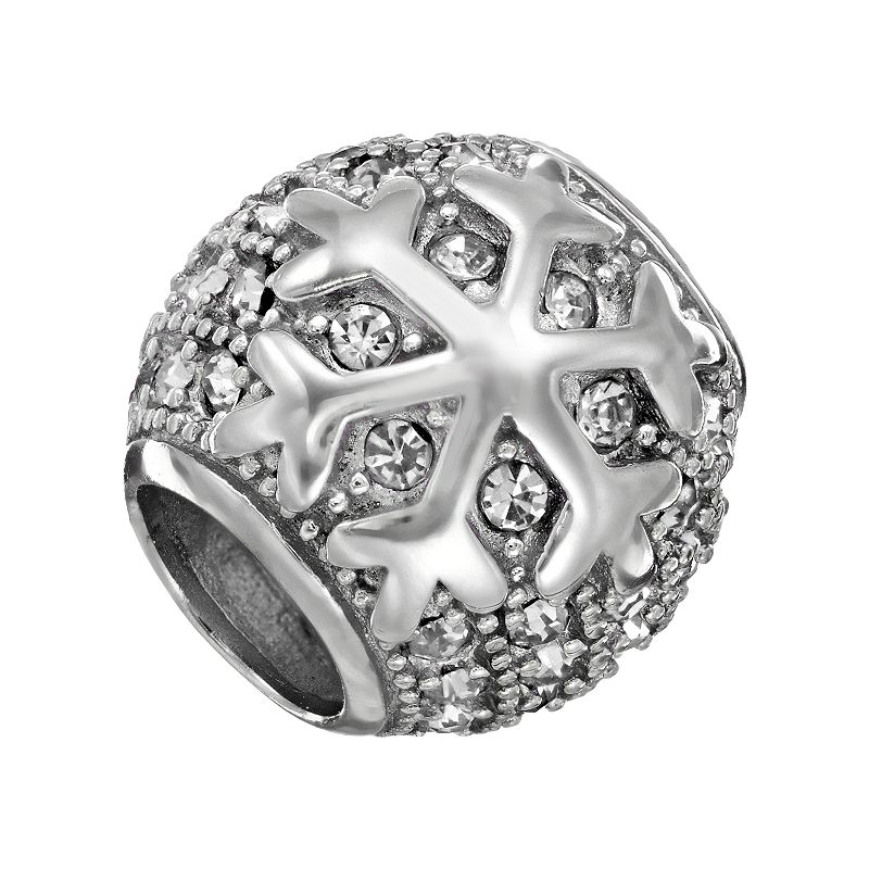 Individuality Beads Crystal Sterling Silver Snowflake Bead