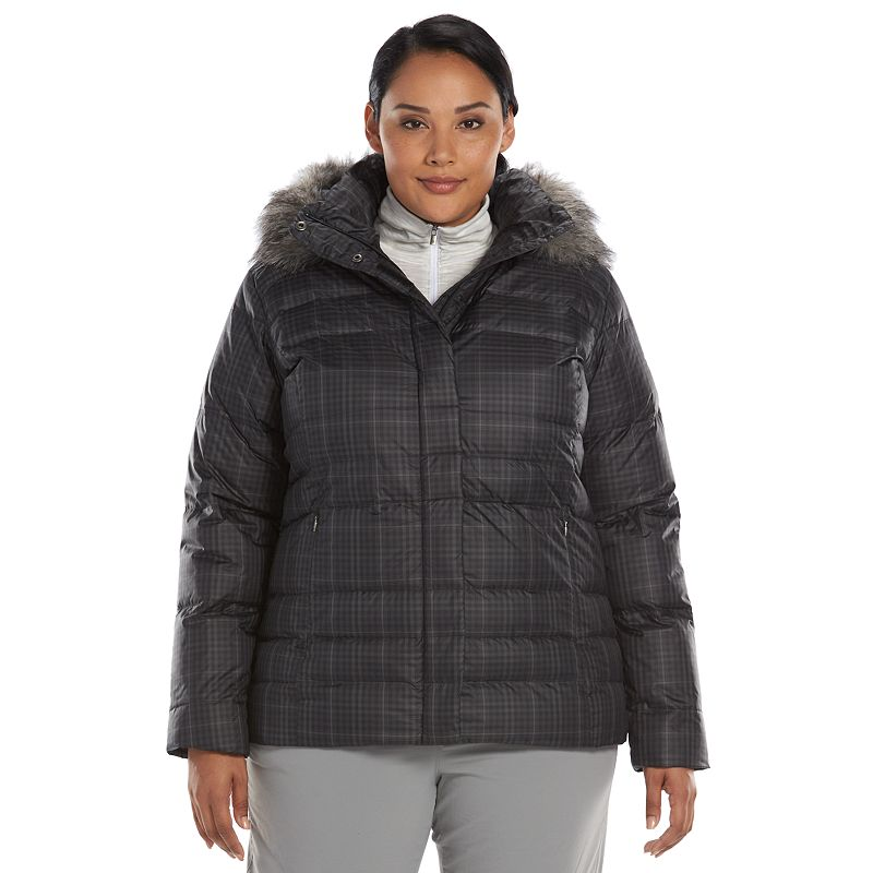Plus Size Columbia Mercury Maven Hooded Down Puffer Jacket
