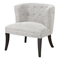 Madison Park Bianca Shelter Geometric Slipper Chair