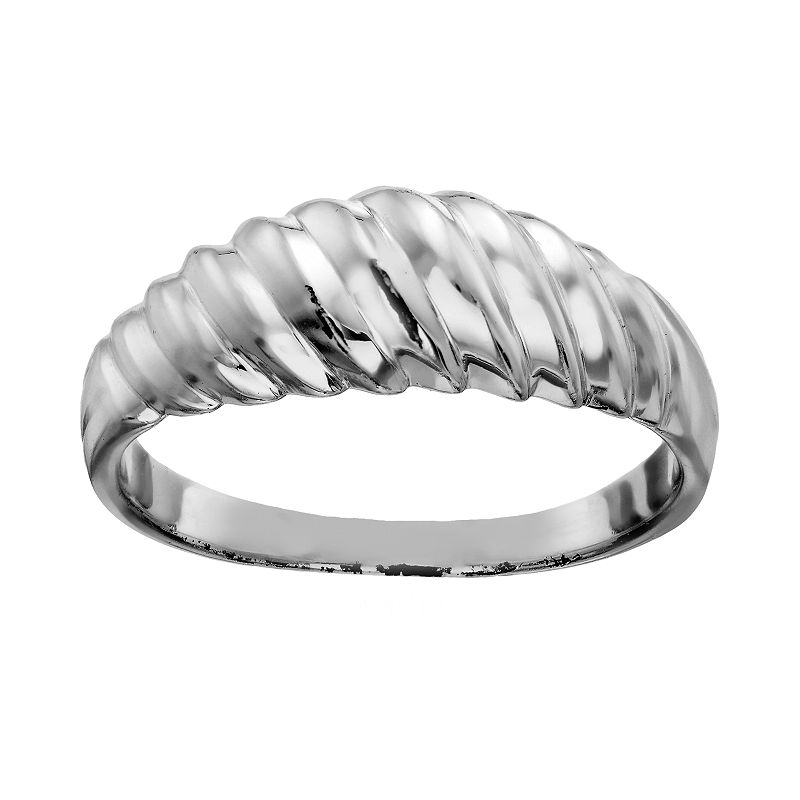 Sterling Silver Shrimp Dome Ring