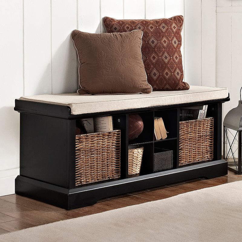 Wood Entryway Storage Bench