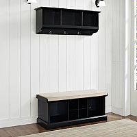Crosley Furniture 2-piece Brennan Entryway Bench & Shelf Set