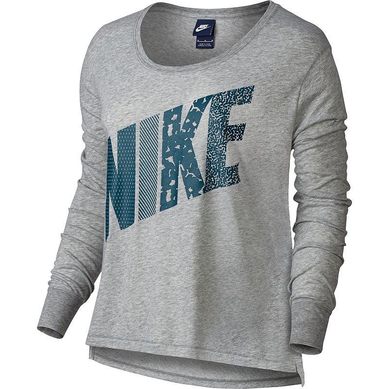 Women's Nike Prep Mixed Print Scoopneck Tee