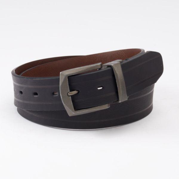 Men's Levi's Logo Buckle Reversible Leather Belt