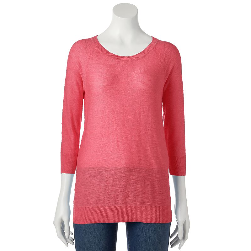 Women's SONOMA Goods for Life™ Slubbed Crewneck Sweater