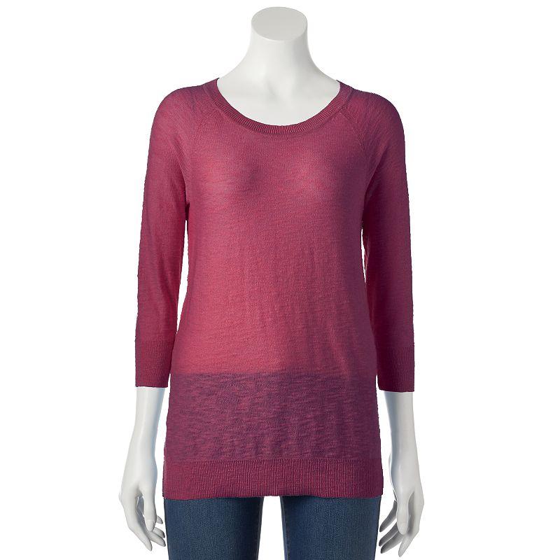 Women's SONOMA Goods for Life™ Slubbed Crewneck Sweater