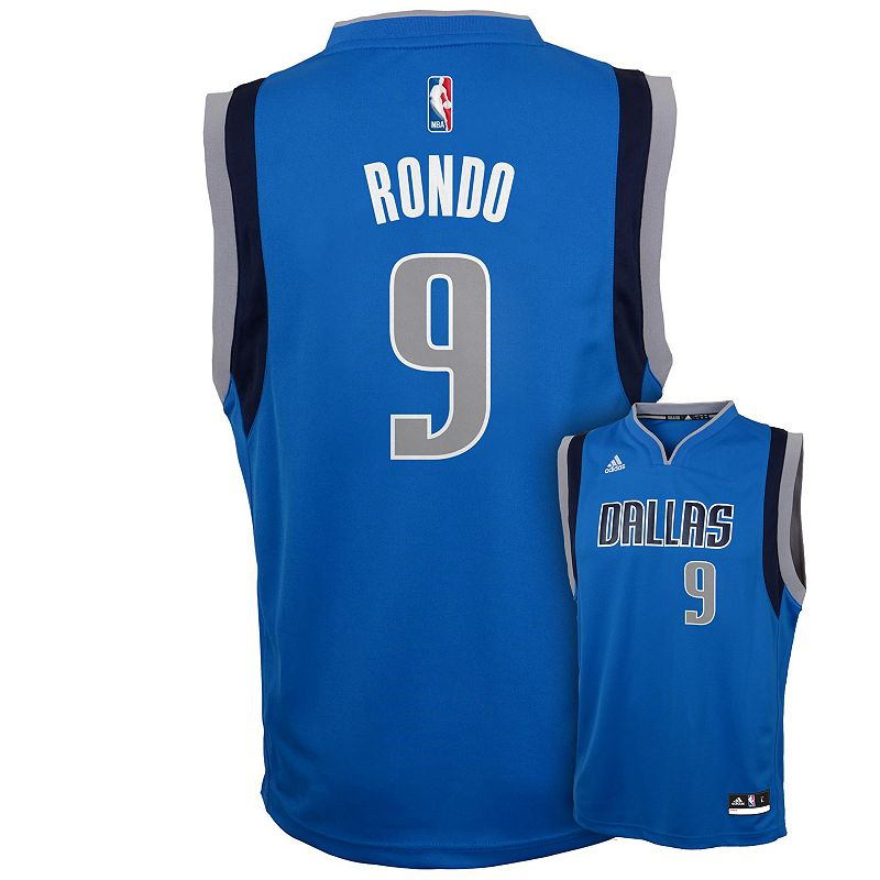 Boys 8-20 adidas Dallas Mavericks Rajon Rondo Replica Jersey