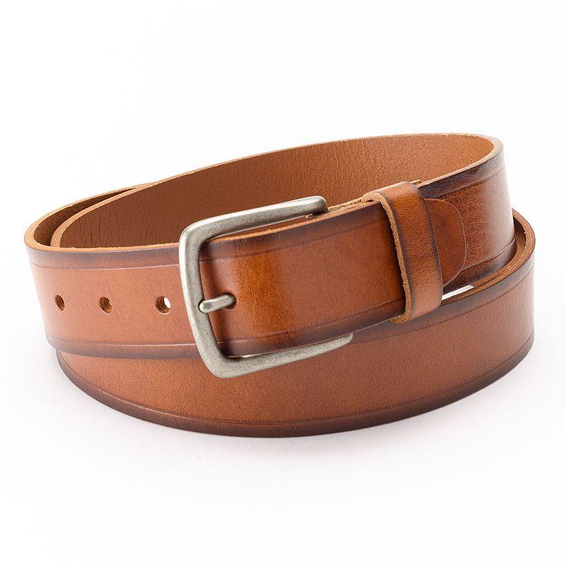 Levi's Bridle Heat-Crease Leather Belt - Men