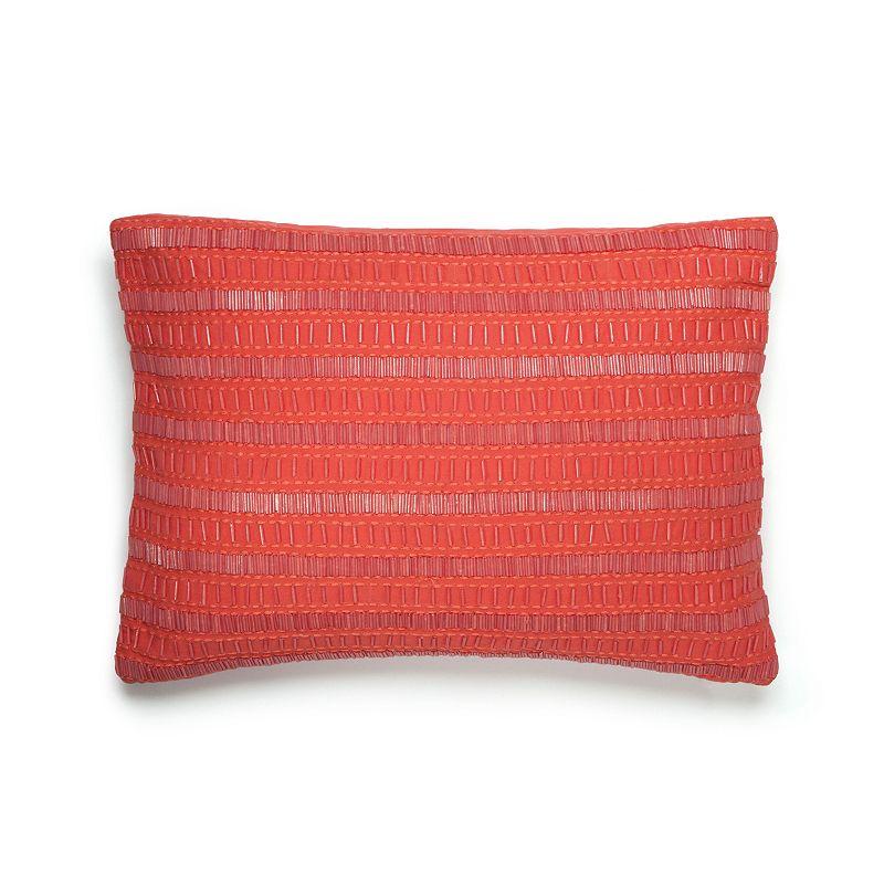 Amy Sia Painterly Beaded Throw Pillow