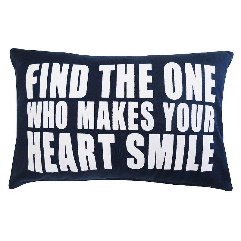 Park B. Smith Heart Smile Throw Pillow